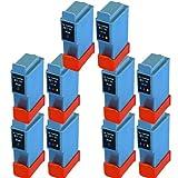 10 ( 5 Set) Colour Direct BCI-21 / BCI-24 Schwarz Und Colour Kompatibel Druckerpatronen Ersatz für Canon PIXMA iP iP1000, iP1500, iP2000, MP110, MP130, 200, 200X, 300, 330 Photo, 250, 320, 350, 450, 450X, 455, 470D, 475D, Ersatz für Canon SmartBase MP 360, 370, 390, 190, 200