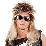 Boland 86060 - Perücke Ryan, Vokuhila, Blond-Schwarz, 80er Jahre, Assi Frisur, Proll, Rockstar, Trainingsanzug, Bad Taste Party, Accessoire, Mottoparty, Karneval