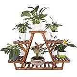 unho Blumenregal Blumentreppe 6 Ebenen Pflanzentreppe für Indoor Balkon Wohzimmer Outdoor Garten Dekor Pflanzenregal Holz 71×25×58cm