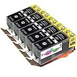*TITOPATEN* - 5X Canon Pixma MG 5350 kompatible XL Druckerpatrone - Schwarz - Patrone MIT CHIP !!!Hohe Laufleistung!!!