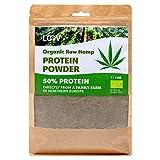 Rohes Bio Hanfproteinpulver, 1kg, 50% Protein, nicht wärmebehandelt, alle Nährstoffe konserviert, lecker nussiges Aroma, biologischer Anbau in nordischem Klima, veganes Proteinpulver, ohne Gentechnik