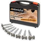 Hinrichs Forstnerbohrer Set 17 teilig im Koffer - Forstner Bohrer Set 15 bis 40 mm - für Verschiedene Arbeiten Holzbohrer Dübelbohrer Scharnierbohrer