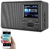 VR-Radio DAB Radio: Mobiles Digitalradio mit DAB+ und UKW, LCD-Farbdisplay, Wecker, 8 Watt (Küchenradio)