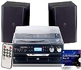 auvisio Kassettendigitalisierer: 5in1-Plattenspieler mit Bluetooth und Digitalisier-Funktion, 40 Watt (Kassettenspieler)