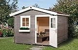 Blockbohlenhaus 106 - Ausführung: Gr.1, Schindelbedarf: 3 Pkt, Außenmaß: 200 x 250cm, Umb. Raum: 11,5m³