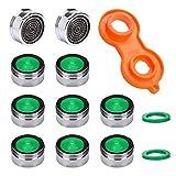 10 Stück Strahlregler M24, Wasserhahn sieb Einsatz, Mischdüse mit ABS-Filter inkl. Mischdüsenschlüssel,für Wasserhähne