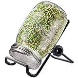 Bcamelys Keimungsset für Weithals-Einmachgläser, Sieb aus Edelstahl für Einmachgläser Zur Herstellung von Bio-Sprossensamen in Ihrer Küche