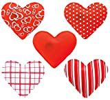 MIK funshopping 4er Set Taschenwärmer in Herzform, Herz, Fingerwärmer, gegen kalte Hände im Winter