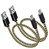 Kurzes 3ft Micro USB Kabel, PS4 Ladegerät 3FT, Nylon geflochtenes Android Ladegerät, Micro...