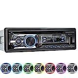 XOMAX XM-CDB623 Autoradio mit CD-Player I Bluetooth Freisprecheinrichtung I USB, Micro SD I 2X AUX I 7 Beleuchtungsfarben einstellbar I 1 DIN