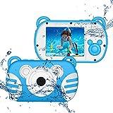 CamKing wasserdichte Digitalkamera für Kinder,1080P Unterwasser Kinder Videokamera 18 MP 2,7 Zoll...