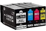 SupplyGuy 4 Druckerpatronen kompatibel mit Canon PGI-1500XL passend für Canon Maxify MB2000 MB2050 MB2100 MB2150 MB2155 MB2300 MB2350 MB2700 MB2750 MB2755