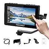 Feelworld F5 Pro V2 5.5 Zoll Touchscreen 3D LUT DSLR Kamera Field Monitor mit externem Kit...