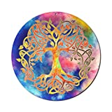 Sonnenfänger' Baum des Lebens' Nr 20 Ø 15cm Geschenkidee Geburtstag · Danke Geschenk · Symbol der Liebe · Glücksbringer Lebensbaum · Weltenbaum Fenster Hängedeko · Tree of Life Suncatcher Acrylglas