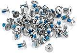 Poppstar Festplattenschrauben für 3,5 Zoll Festplatten, Nr. 6-32 UNC x 6 mm, silber, 50er Set PC Schrauben zur Befestigung von Festplatten