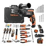 TACKLIFE Elektrowerkzeug-Set, Bohrmaschin 800W & Werkzeugkoffer, 145-teiliges Zubehör, Werkzeugkasten für die Reparatur und Dekoration im Haushalt - THTK01A