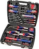 kwb 370733 Werkzeug-Koffer inkl. Schrauber-Bits, 42-teilig, gefüllt, robust und hochwertig, ideal für den Haushalt o. die Garage, GS geprüft, im praktischen Kunststoffkoffer