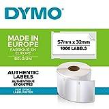 DYMO LW-Mehrzwecketiketten selbstklebend (57mm x 32mm, Rolle mit 1.000leicht ablösbaren...