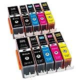 ESMOnline 10 komp. XL Tintenpatronen als Ersatz zu Canon PGI-520 / CLI-521 für Canon Pixma iP3600 iP4600 iP4700 MP540 MP550 MP560 MP620 MP630 MP640 MP980 MP990 MX860 MX870 (10er Set)