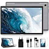 Tablet 10 Zoll Android 10 Original, Ultraschnelles Dual 4G LTE & 5G WiFi, Octa-Core Prozessor, 1920 * 1200 IPS, YESTEL T5 LTE Tablets 64 GB, 128GB Erweiterung, GPS/Bluetooth/Face ID/OTG, grau