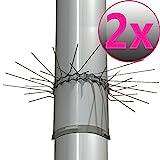 Marderschutz für Fallrohre - 2er Set Marderschutzgürtel Ø 100mm - Marderabwehrgürtel aus Edelstahl - Baumschutz gegen Marder - flexibel anpassbar durch Stecksystem der Gürtelglieder