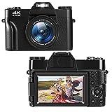 Digitalkamera 4K 48MP Fotoapparat Digitalkamera 3,0-Zoll-Ultra-Clear-Screen Kompaktkamera mit 16-fachem Digitalzoom, Digitalkamera und 32 GB SD-Karte