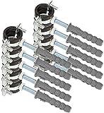 KOTARBAU® 10er Set Rohrschelle 1/2' mit Gummieinlage Vibrationsdämmend Rohrhalter Schraubrohrschelle Rohrbefestigung Rohrhalterung für Kanäle Rundleitungen Lüftungskanäle