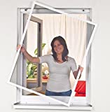 Mako Fenstergitter mit Alurahmen in weiß, Maße: max. 100 x 120 cm Insektenschutz - Alu-Rahmen Bausatz