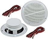 Aussen Lautsprecher 5' 127mm 80Watt PAAR Einbaulautsprecher für Wand & Decke Marine-Lautsprecher IP44 geeignet für Innen- & Aussenbereich Paar / 2 Stück Weiß