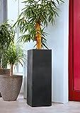 Lippert Pflanzkübel Säule Kubus quadrat 80cm Höhe anthrazit