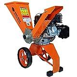 Forest Master Benzin holzhäcksler 6 PS kompakt ausbalanciert, Holzhackmaschine Direktantrieb. Garten-Holzhacker Schneidet bis zu 50 mm Äste