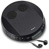 NAVISKAUTO Tragbarer CD Player Discman CD-Walkman Lautsprecher Skip Schutz für CD MP3 WMA CD-R...