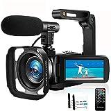 Camcorder Videokamera Full HD 1080P 30FPS IR Nachtsicht Vlogging Kamera für YouTube Camcorder...