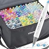 Brush Marker mit 216 Farben von Ohuhu, doppelseitige Farbspitze – grober Marker für Entwürfe und...