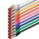 Netzwerkkabel Cat 6 (0,25m - 10 Farben) Ethernetkabel Cat Kabel Lankabel Cat6 (SFTP PIMF) doppelt...