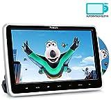 NAVISKAUTO 10,1' Zoll Auto Monitor DVD Player HDMI IN HD Bildschirm mit KFZ Kopfstützenhalterung Slot-in Disc unterstützt SD USB AV IN und Out für Kinder Schwarz