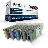 5X Print-Klex Patronen kompatibel für Canon imagePROGRAF IPF 750 imagePROGRAF IPF 750 MFP imagePROGRAF IPF 750 MFP M 40 imagePROGRAF IPF 750 Series Black Matt Black Cyan Magenta Yellow - Print Quantu