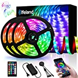 Elfeland Rgb LED Strip, 15M LED Streifen, LED Stripes steuerbar via App bluetooth, 5050SMD 450 Leds...