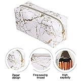 Minear Kosmetiktasche Marmor,Reißverschluss Für Kosmetik Schmuck Elektronisches Zubehör Ätherische Öle Toilettenartikel Rasierbedarf Wertsachen Etc.