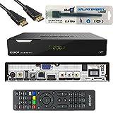 Edision Piccollo S2+T2/C Full HD Satelliten-Kabel-Receiver FTA HDTV DVB-S2/C/T2 (HDMI, AV, USB 2.0,Display,CA,CI,LAN) Deutsch vorprammiert inkl.Wlanabel und HDMI Kabel