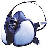 3M 4255 Atemschutz-Halbmaske Komplettmaske zum Schutz Gegen Organische Gase, Dämpfe und Partikel, Blau