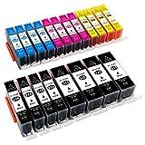 ESMOnline 20 komp. Druckerpatronen als Ersatz zu Canon PGI-525 / CLI-526 für Canon Pixma iP4850 iP4950 iX6550 MX715 MX885 MX895 MG5100 MG5150 MG5200 MG5250 MG5300 MG5350 MG6150 MG6250 MG8150 MG8250 (20er Set)