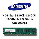 Samsung 4GB (1x 4GB) DDR3 1600MHz (PC3 12800U) LO Dimm Computer PC Desktop Arbeitsspeicher RAM Memory