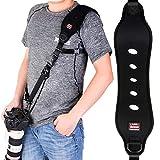 Coolwill Professional Schnelle Action Kamera-Schultergurt mit Quick Release Clip w/ Sicherheitsfunktion w/ Quick-Lock System w/ bis zu 15kg (schwarz)