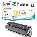 Inkadoo Toner kompatibel zu Canon Lasershot LBP-2900, 12L, 12LBK, 12LBLACK, NO12L, NO12LBK, NO12LBLACK Q2612L, 1x Premium Drucker-Kartusche Alternativ, Schwarz, 2000 Seiten