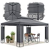 ArtLife Gartenzelt Capri 3 x 4 m in grau – Outdoor Pavillon wasserabweisend und faltbar – für Garten-Feste und Feiern – aus stabilem Metall und Polyester