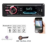 CREASONO DAB Autoradios: MP3-Autoradio mit DAB+, Bluetooth, Freisprecher, USB & SD, 4X 50 Watt (DAB Autoradios mit MP3, Bluetooth)
