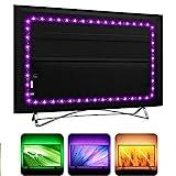 USB TV Backlight LED Strip Lights for HDTV SmartTV with 24Key Remote , 16 Color RGB5050 for Gaming Room Decor, LED Bias Ambient Mood Lighting (1m)
