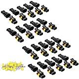 2 polig Stecker Steckverbinder Capalta Blume 20 set 1.5mm Superseal Steckverbindung Wasserdicht für Auto KFZ Boot