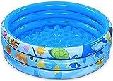 iBaseToy 120 cm x 28 cm aufblasbarer Kinderpool, 3 Ringe Kreise aufblasbarer Pool für Sommerwasserparty, Wasserbabypool, Familienpool für den Außenbereich, Garten, Garten, ab 3 Jahren